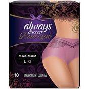 Always Boutique, Incontinence & Postpartum Underwear, Maximum