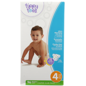 Tippy Toes Super Club Pack Diapers, 4 22-37 Lb