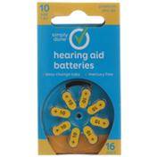 Simply Done 10 Size 1.4V Hearing Aid Batteries