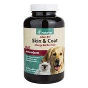 NaturVet Aller-911 Skin & Coat Allergy Aid Formula Plus Antioxidants Chewable Tabs