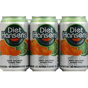 Hansen's Soda, Premium, Diet Tangerine Lime