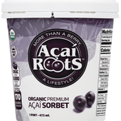 Acai Roots Sorbet, Organic, Acai, Premium
