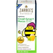 Zarbee's Naturals Children's Cough Syrup + Mucus Nighttime, Grape