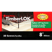 TimberLOK Wood Screw, Structural, 8 inches