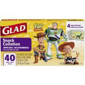 Glad Disney Toy Story Snack Zipper Bags - 40 CT
