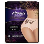 Always Discreet Boutique, Postpartum Incontinence Underwear, Maximum