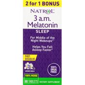 Natrol Melatonin, 3 a.m., Lavender Vanilla, Tablets