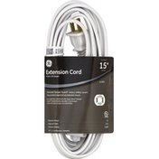 GE Extension Cord, Indoor, White, 15 Feet