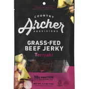 Country Archer Beef Jerky, Grass-Fed, Teriyaki