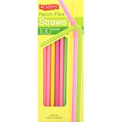 Acadian Trading Straws, Neon Flex