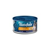 Blue Buffalo Tastefuls Natural Pate Wet Cat Food, Turkey & Chicken Entrée