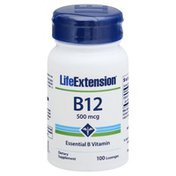 Life Extension Vitamin B12, 500 mcg, Lozenges