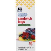 Food Lion Multi Color Sandwich Bags