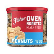 Fisher Oven Roasted Never Fried Peanuts with Sea Salt