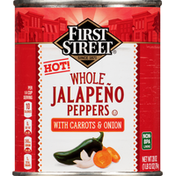 First Street Jalapeno Peppers, Hot, Whole