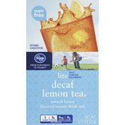 Kroger Drink Mix, Decaf Tea with Lemon