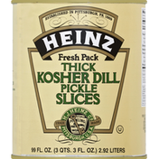 Heinz Pickle Slices, Kosher Dill, Thick