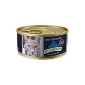 Blue Buffalo Wilderness High Protein Grain Free, Natural Mature Pate Wet Cat Food, Chicken