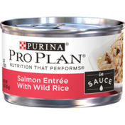 Purina Pro Plan Wet Cat Food, Salmon Entree With Wild Rice in Sauce