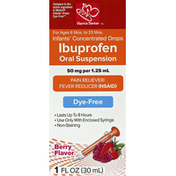 Harris Teeter Ibuprofen, Infants', Dye-Free, Concentrated Drops, Berry Flavor