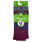 Gaiam Yoga Socks, Toeless, Small/Medium (Women's Shoe 5-10/Men's Shoe 4-9)