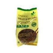 Bgreen Food Organic Millet & Brown Rice Pasta, Ramen