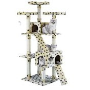 """Go Pet Club Classic Cat Tree Furniture With Sisal Scratching Posts - Paw Print - 72"""""""