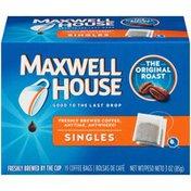 Maxwell House Singles Original Roast Coffee Bags
