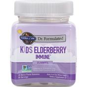 Garden of Life Kids Elderberry Immune, Gummies, Berry Flavor