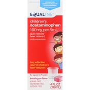 Equaline Acetaminophen, Bubble Gum Flavor, Children's