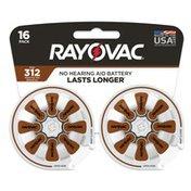 Rayovac Size 312 Batteries, Size 312 Batteries