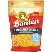 Borden Extra Sharp Cheddar Finely Shredded Cheese