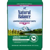 Natural Balance Dog Food, Lamb & Brown Rice Formula, Small Breed Bites