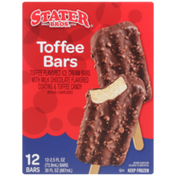 Stater Bros Toffee Flavored Ice Cream With Milk Chocolate Flavored Coating & Toffee Candy Bars