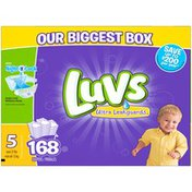 Luvs Ultra Leakguards Diapers Size 5 168 count Diapers