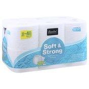 Essential Everyday Bathroom Tissue, Soft & Strong, Mega Rolls, 2-Ply