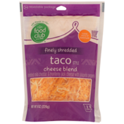 Food Club Taco Style Cheese Blend Mild Cheddar & Monterey Jack With Jalapeno Peppers Finely Shredded Cheese
