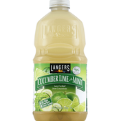 Langers Juice Cocktail, Cucumber Lime with Mint