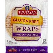 Toufayan Wraps, Gluten Free, Garden Vegetable
