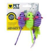 Pet Zone Instinct Toy Three Twine'd Mice - 3 CT