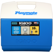 Igloo Cooler, Blue/White, 16 Quart