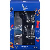 Grey Goose Special Edition 750mL Vodka & Stemless Martini Glass Gift Set