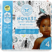 The Honest Company Diapers, Size 4 (22-37 Pounds), Space Travel