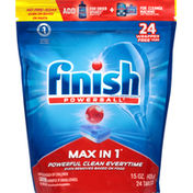 Finish Automatic Dishwasher Detergent, Max in 1, Tablets