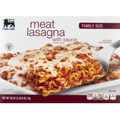 Food Lion Meat Lasagna, with Sauce, Family Size