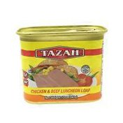 Tazah Halal Chicken & Beef Luncheon Loaf