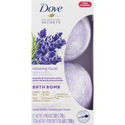 Dove Bath Bomb, Nourishing Secrets, Relaxing Ritual, Lavender & Chamomile Scent