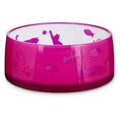 Harmony 1.5 Cup Acrylic Cut Out Pink Cat Bowl