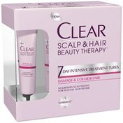 Clear Scalp & Hair Therapy Damage & Color Repair 7 Day Intensive Treatment Tubes