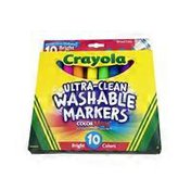Crayola Ultra Clean Bright Colors Washable Broad Line Markers